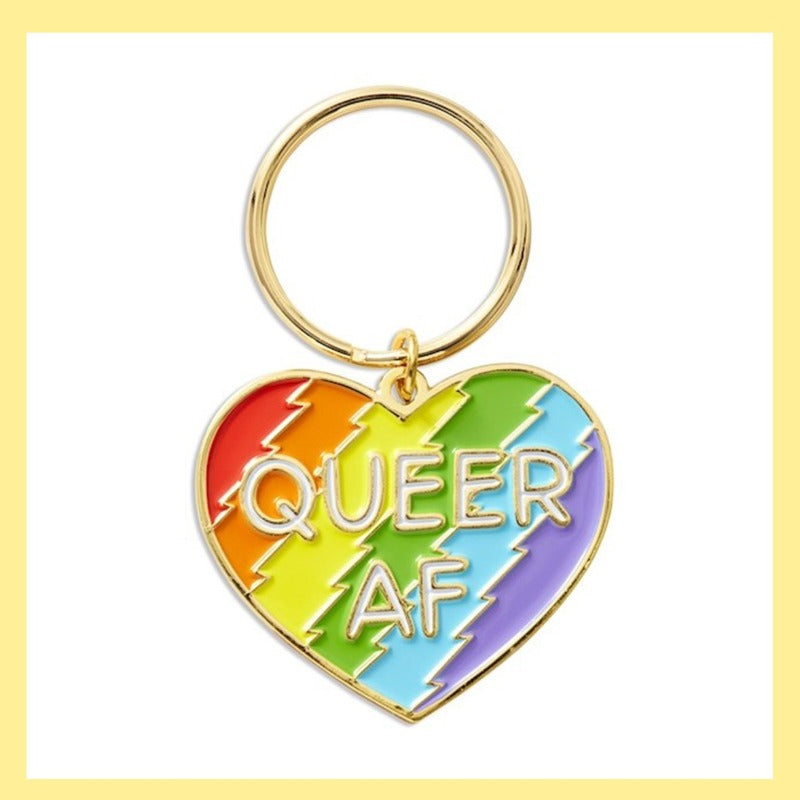 Keychain - Queer AF Heart
