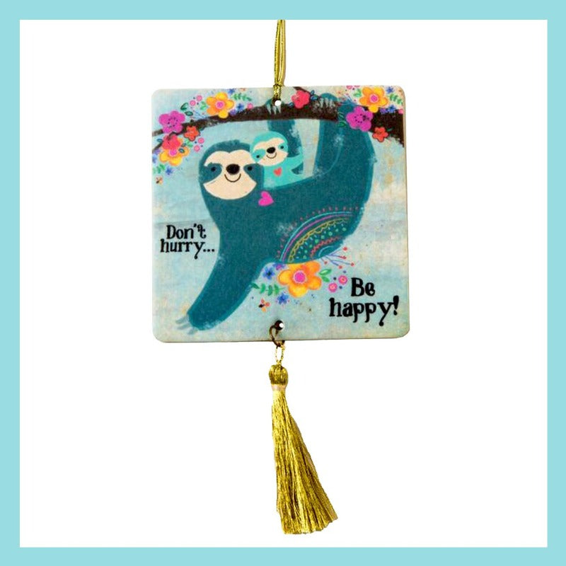 Air Freshener - Don't Hurry, Be Happy Sloth