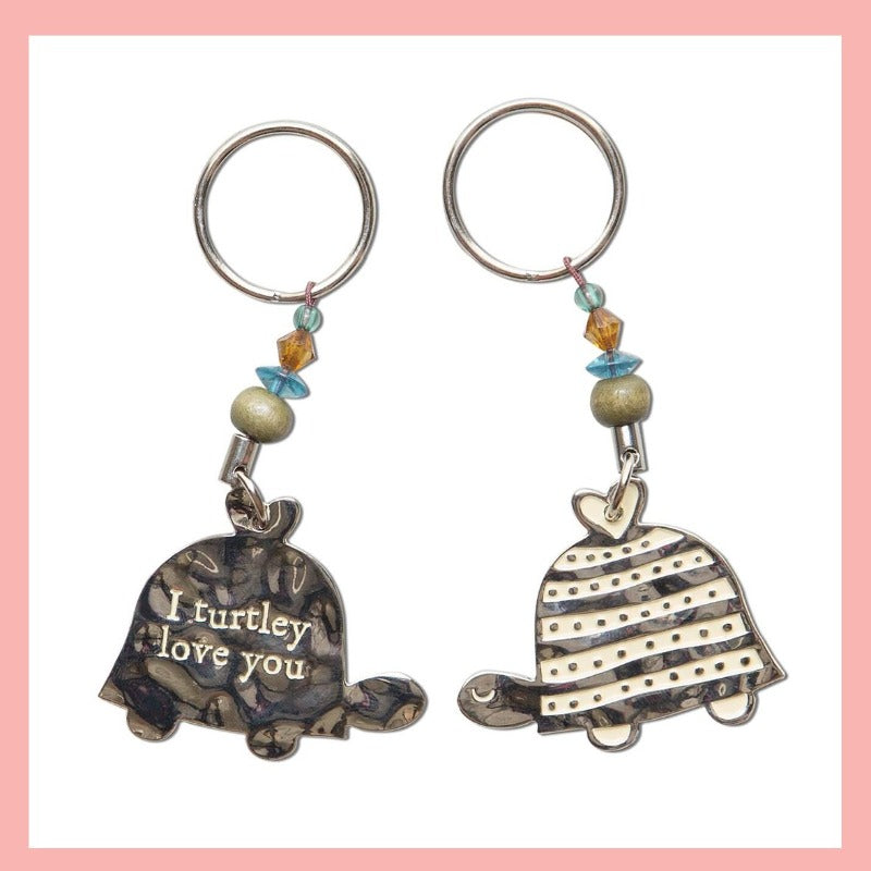 Keychain - I Turtley Love You - Turtle