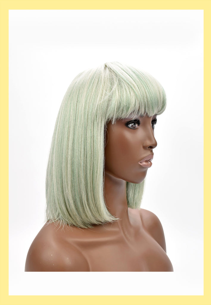 Willow Wig in Celadon (Side)