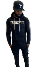 Load image into Gallery viewer, Tranzfit-White Lines  sweatsuit (Black)