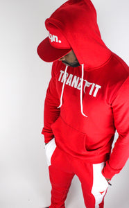 Tranzfit-Red Name Sake Hooded Set