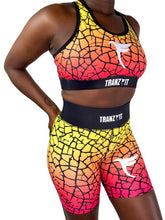 Load image into Gallery viewer, Tranzfit- Ombre Pink/Yellow Blend Sports Bra