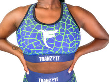 Load image into Gallery viewer, Tranzfit-Ombre (Blue/Green) Sports Bra