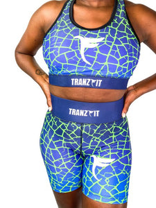 Tranzfit-Ombre (Blue/Green) Sports Bra