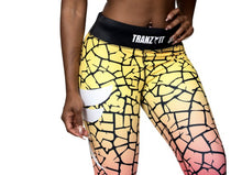 Load image into Gallery viewer, Tranzfit- Ombre Yellow/Pink 3/4 leggings