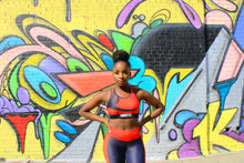 Load image into Gallery viewer, Tranzfit- Red Stripe Sports Bra