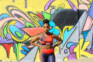 Tranzfit- Red Stripe Sports Bra