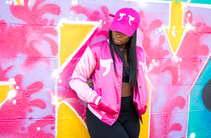 Tranzfit-Mirrored Logo Cap (Pink on Pink)