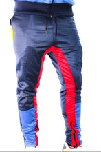 Load image into Gallery viewer, Tranzfit- Quad Stripe Jogger Set (Navy,Royal,Red,Gold)
