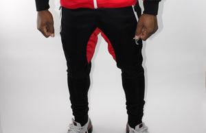 Tranzfit-Retrograde Jogger Pants (Red/Blk/White)
