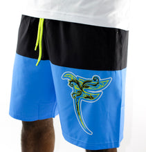 Load image into Gallery viewer, Tranzfit-Paisley Aqua Shorts