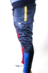 Tranzfit- Quad Stripe Jogger Set (Navy,Royal,Red,Gold)