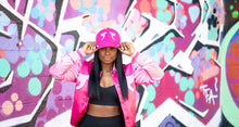Load image into Gallery viewer, Tranzfit-Mirrored Logo Cap (Pink on Pink)
