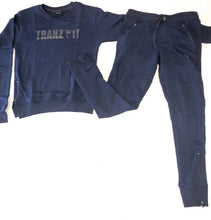 Load image into Gallery viewer, Tranzfit-Hidden Logo Crew Neck Set(Navy)