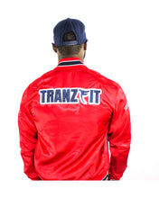 Load image into Gallery viewer, Tranzfit-Mirrored Logo Bomber Jacket