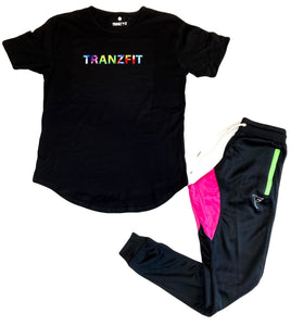 Tranzfit - Tapered Joggers (Magenta/Neon Green)