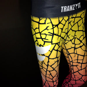 Tranzfit- Ombre Yellow/Pink 3/4 leggings