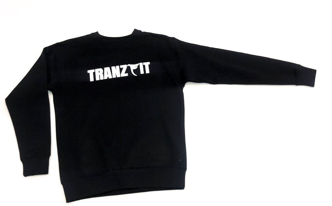Tranzfit-Classic Crew neck sweater (Black)