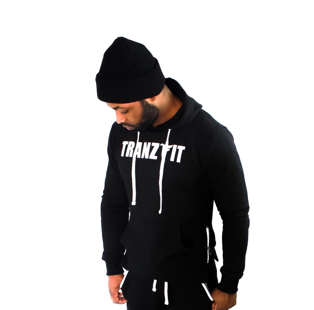 Tranzfit-Raised Logo Hoody (Black)