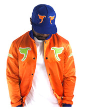 Load image into Gallery viewer, Tranzfit-Mirrored Logo Cap (Royal/Orange)