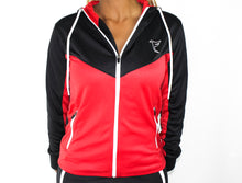 Load image into Gallery viewer, Tranzfit-Retrograde Zip Hoodie (Blk/Red)