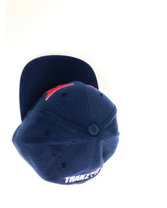 Tranzfit-Mirroed Logo Snap Back Cap(Navy/Red)