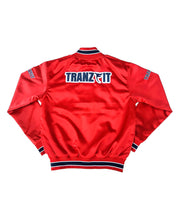 Load image into Gallery viewer, Tranzfit-Womans Mirrored Logo Bomber Jacket