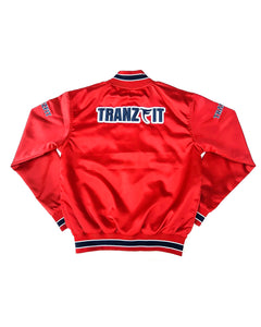 Tranzfit-Womans Mirrored Logo Bomber Jacket