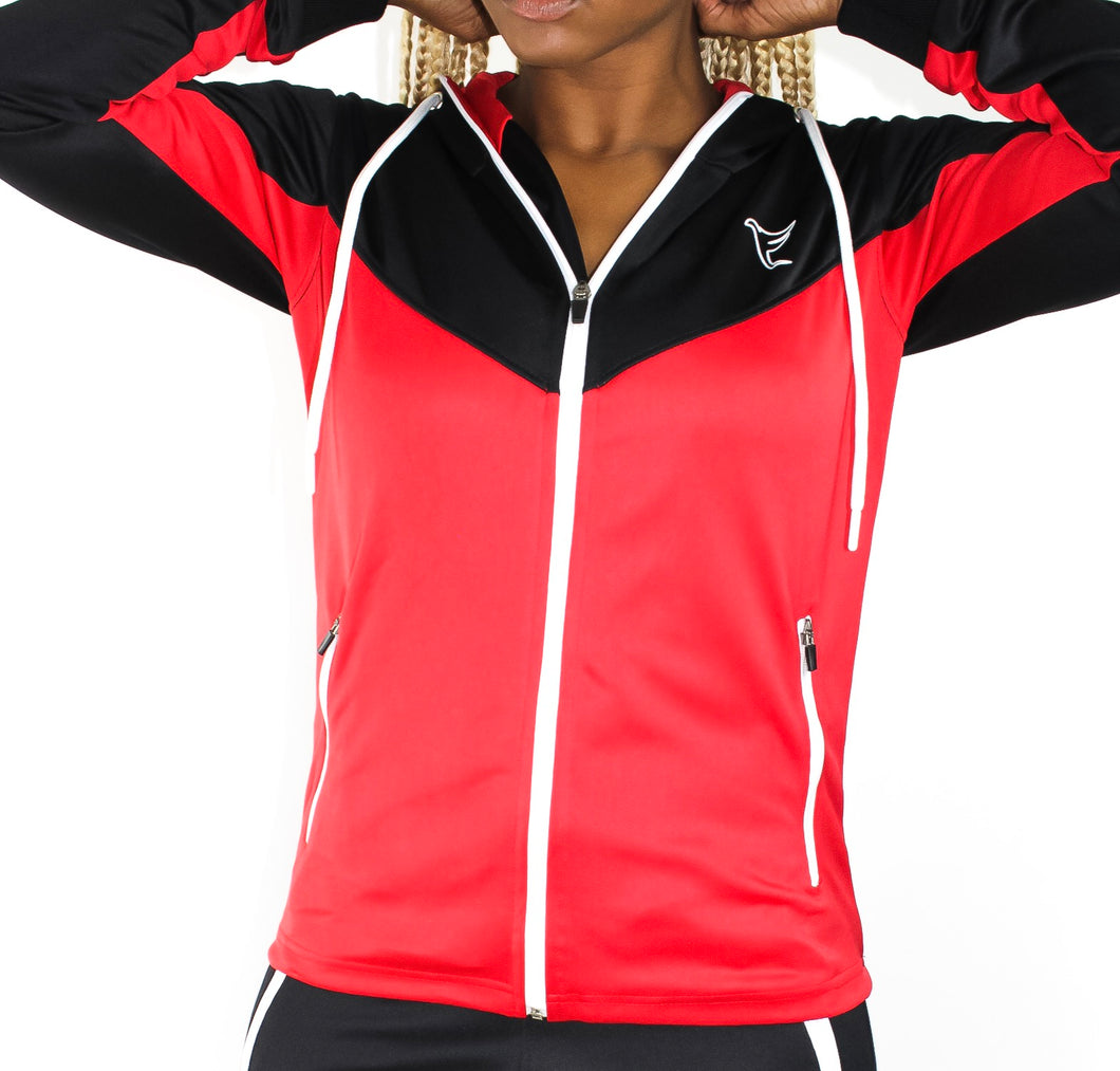 Tranzfit-Retrograde Zip Hoodie (Blk/Red)