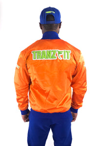 Tranzfit-Mirrored Logo Bomber Jacket