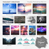 Inspirational art, Enlighten me - Thought Creation