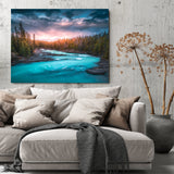 Sparkling River Sunset Reflection Canvas - Thought Creation