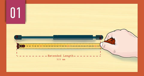 How to measure gas struts
