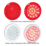 102 Series Trailer Truck LED Round Light Clear Lens- Amber, Red or White