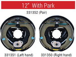 "ALKO Off Road Electric Backing Plate 12"" Left or Right Hand with Park"