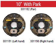 "ALKO Off Road Electric Backing Plate 10"" Left or Right Hand with Park"