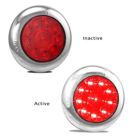 Red Stop/Tail LED Round Series Lamp - Fineline Fabrications