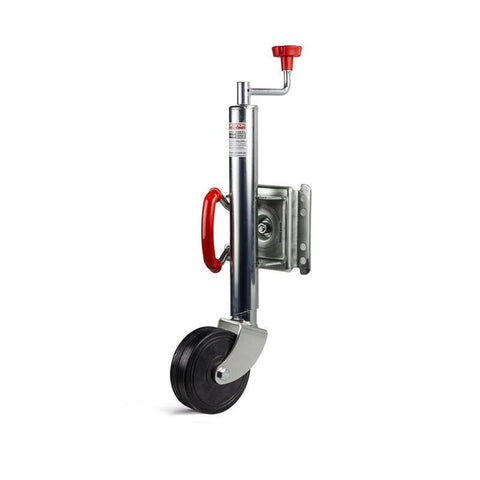 "6"" Jockey Wheel Swing Up, Rubber Wheel, Load Capacity 1000LBS - Fineline Fabrications"