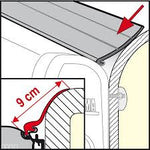 Fiamma Caravan Awning Rain Guard L - 9cm - 550cm Length - Fineline Fabrications