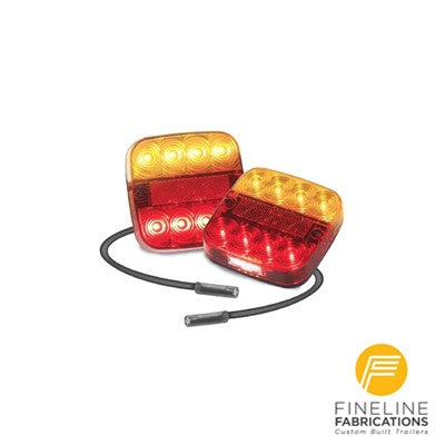 Trailer Lights - 99 Series - 12-24 Volt, Stop/Tail/Ind/Licence with 4 Pin Plug - 99ARLM4P