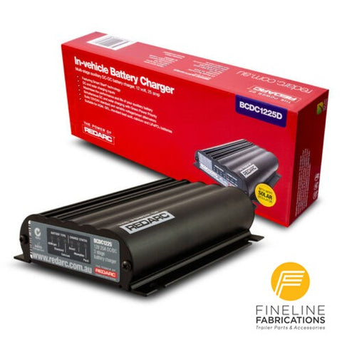 REDARC BCDC1225D - DUAL INPUT 25A IN-VEHICLE DC BATTERY CHARGER