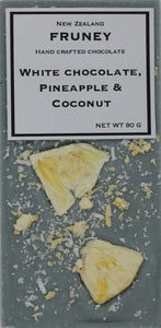 White chocolate, Pineapple & Coconut bar