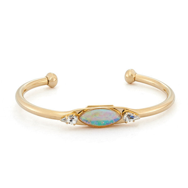 Assi Bangle Bracelet with opal crystal