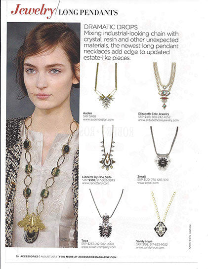 Gizele Necklace in 'Accessories' magazine
