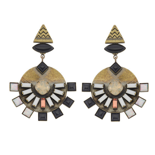 Dillen Black Earrings