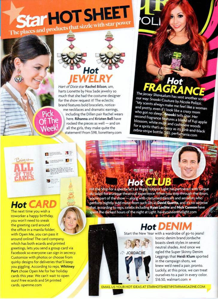 Dillen Earrings in 'Star' magazine