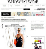 Gizele Necklace featured on 'whowearwhat'