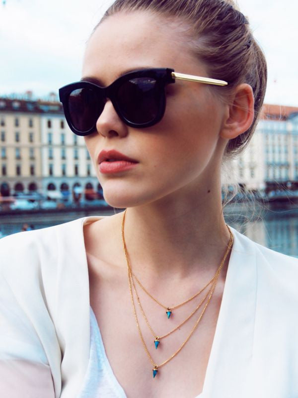 Kristina Bazan with Avish Necklace