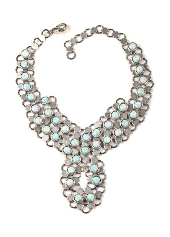 Lady D White Opal Necklace